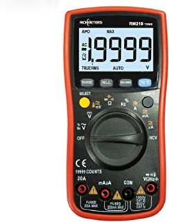 HYCy True-RMS 19999 Counts Digital Multimeter NCV Frequency Auto Power Off AC DC Voltage Ammeter Current Ohm (RM219)