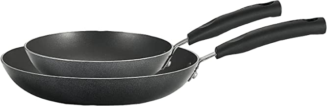 T-fal C531S2 Signature Nonstick Expert Easy Clean Interior Thermo-Spot Heat Indicator Dishwasher Safe PFOA Free Oven Safe Fry Pan/Saute Pan 8-Inch and 10-Inch Cookware Set, 2-Piece, Black