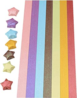 [Shine] Bright Origami Lucky Star Origami Handmade Gift, 7 Colors 340 Sheets