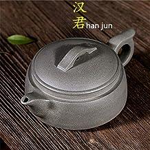PengCheng Pang Authentic teapot Famous Handmade Green Stucco Han Jun Kung Fu Tea Teapot Gift (Color : Grey)