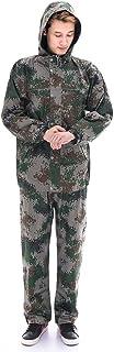 ZEMIN ポンチョ レインウェア スリッカー レインコート ポンチョ ウインドブレーカー 防水 カバー ユニセックス ズボン ファッション ポリエステル、 アーミーグリーン、 4サイズあり (色 : アーミーグリーン, サイズ さいず : XL)