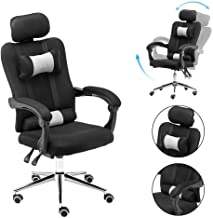 $89 » Gaming Chair Office Chair High Back Computer Chair PU Leather Desk Chair PC Racing Executive Ergonomic Adjustable Swivel Task Chair with Headrest and Lumbar Support (Black)