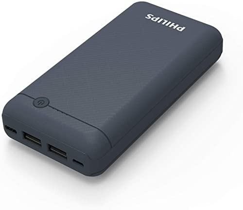 Philips DLP1720CB Fast Charging Power Bank 20000Mah With Lithium Polymer Battery Blue Dual USB Output Port With Micro USB And Type C Input