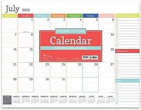Rainbow Blocks Large Desk Pad Monthly 2020 Calendar: July 2019 - June 2020 (Academic Year Desktop Calendar, Planning Blotter)