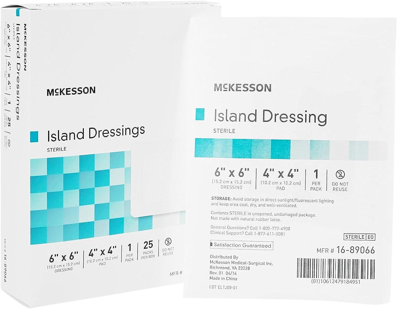 McKesson Sterile Adhesive Dressing Square 4 X 4