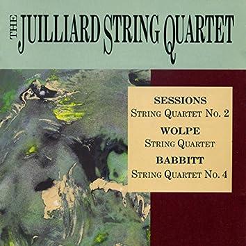 Sessions, Wolpe & Babbitt: Quartets