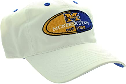 RobsTees Twins McNeese State University Buckle Back Twill Cotton Adjustable Baseball Dad Cap Hat