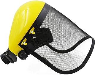 Niome Full Face Shield Protection Splash Proof Safety Mask Adjustable Steel Mesh Helmet for Chainsaw Gardening Logging