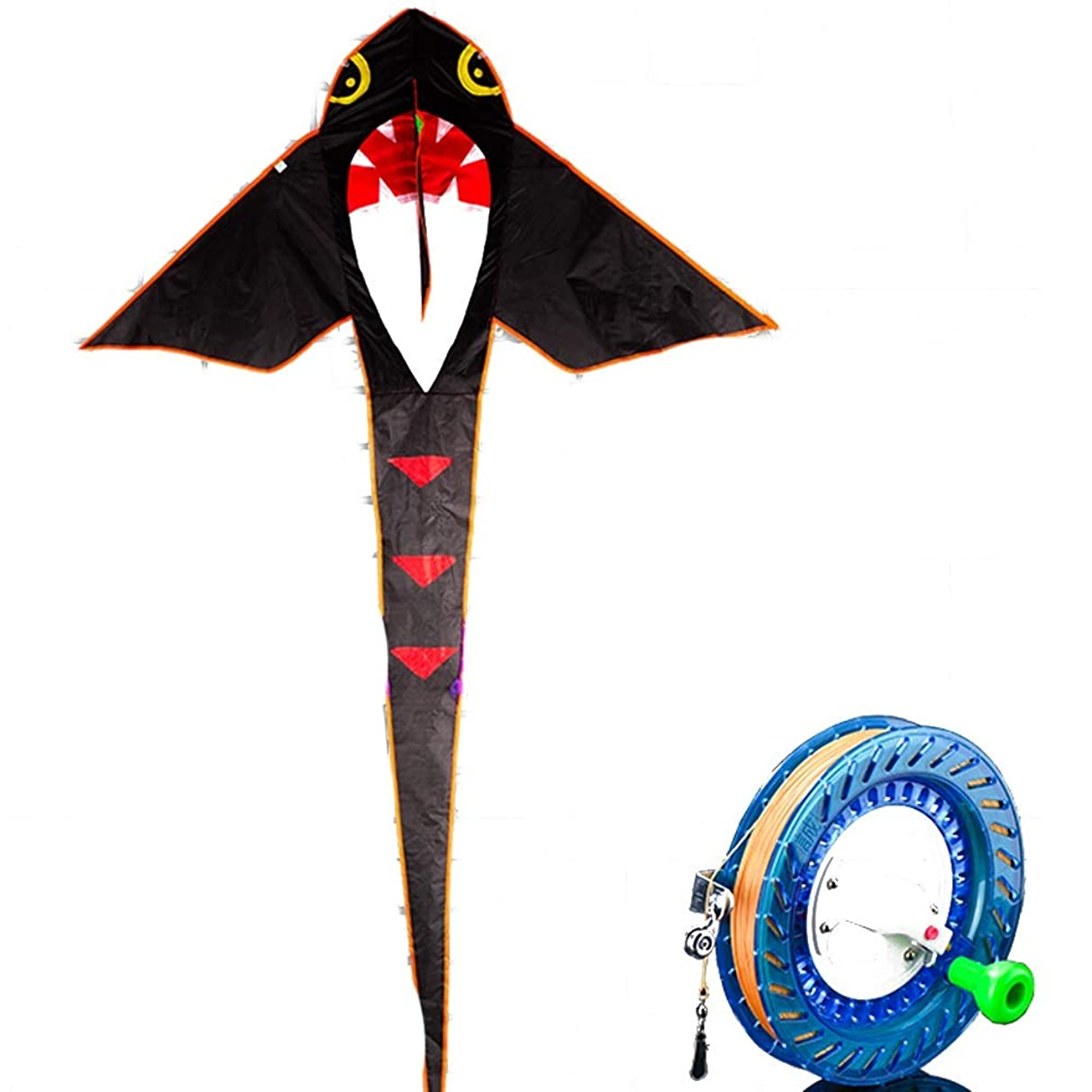 Kite,Flying Spring Toy Beginner/Children Cartoon Breeze Easy to Fly Traditional Small Kites (with Reel) Kite line Wheel Puller Multi-Style Optional (Color : E)