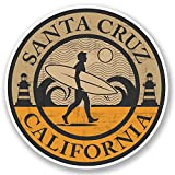 2 x 10cm Santa Cruz California Vinyl Sticker iPad Laptop Car Surf Cali USA #5075