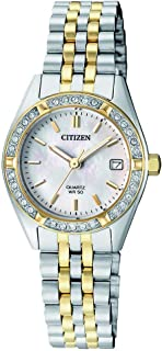 CITIZEN Women's Quartz Watch, Analog Display and Stainless Steel Strap EU6064-54D