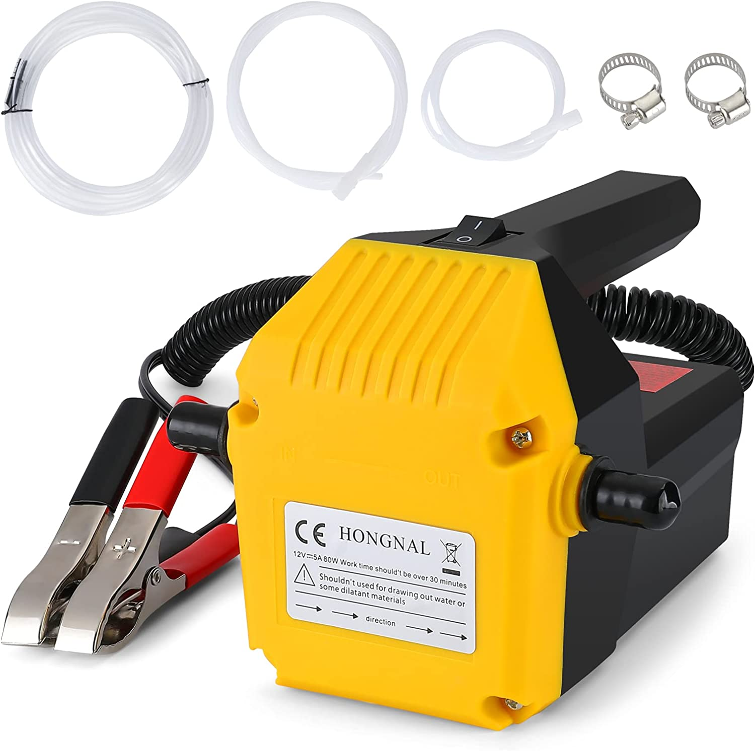 HONGNAL Special price for a limited time 80w Oil Change Pump Direct sale of manufacturer 6.56ft Outle Electric with Extractor
