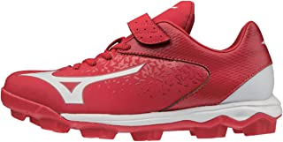 Mizuno 320581.1000.25.0450 Select Nine Jr Low Youth Molded Baseball Cleat Red-White (1000) 4 1/2 (0450)