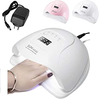 80W 36LED Nail Dryer,UV/LED Nail Lamp for Gel Polish,Smart Auto-sensing Beads,Double Light Source(365 + 405nm) with 4 Time...