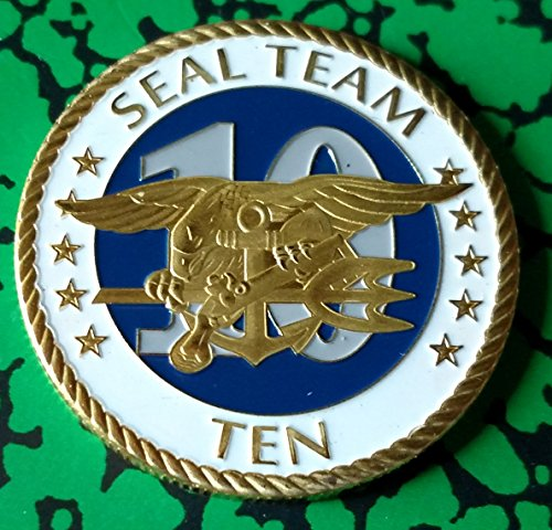 Navy Seal Team Ten Military Challenge Colorized Art Coin