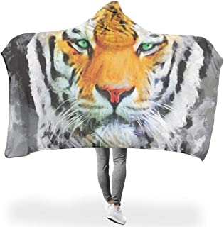 QXGIAO Animal Lion Tiger Plush Microfiber Large All Season Blanket Throw for Sofa Chair Bed Office White 60x80 inch