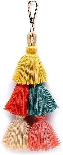 Fanspack Tassel Charm Colorful Handbag Charm Tassel Pendant Purse Charm Tassel Keychain B