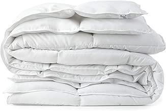 Medium Warmth White Down Alternative Comforter with Space Saver Storage Bag, Duvet Insert, Corner Tabs, Protection Against Dust Mites, Hypoallergenic, Allergy Free (Medium Warmth, Oversized Queen)