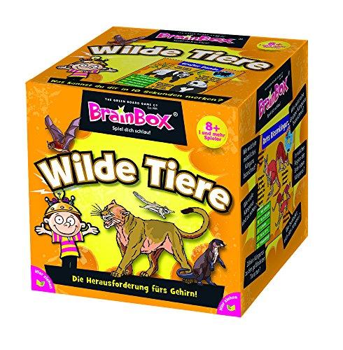 Brain Box 94902 94902-Lernspiel-Wilde schlau-ab 1 Spieler, Dauer Circa 10 Minuten, Wilde Tiere