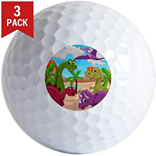 Golf Balls (Set of 3) Dinosaurs HD