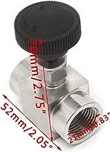 HittecH Needle Valve Female Thread 304 Stainless Steel Flow Control Shut Off 915 PSI 1/2