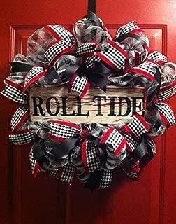 Roll Tide Alabama Wreath, Alabama Football Wreath