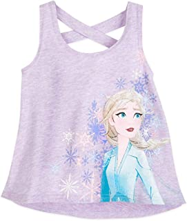 Disney Frozen 2 Elsa Racerback Tank Top for Girls, Size XS (4)