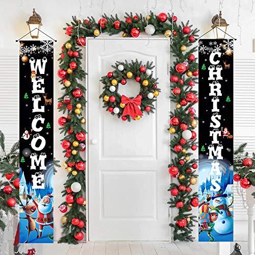 Weihnachts-Veranda-Dekorationen für Zuhause, Weihnachts-Banner, Weihnachtstür-Dekorationen für den Außenbereich, Weihnachtsdekoration, Flaggen, Veranda,...