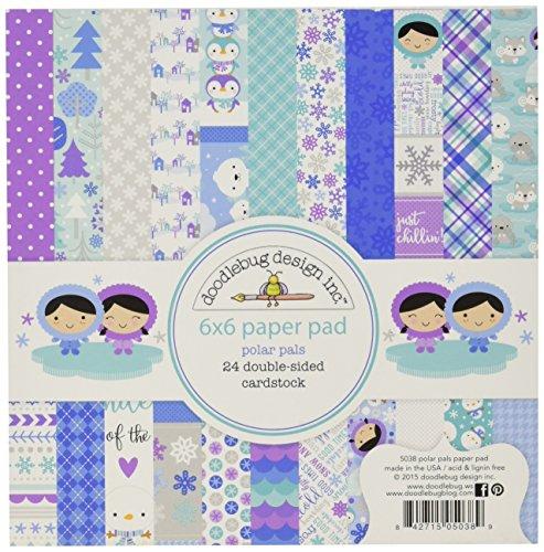 Doodlebug dubbelzijdig papier pad 6 x 6 2 Polar Pals