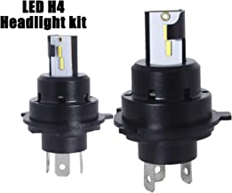 JRZOUR Headlight Bulbs H4,9003 LED High and Low Beam,12000lm 6000K Halogen Replace Kit,CSP Chips Fog Light 1:1 Design