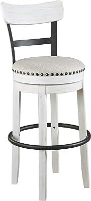 Signature Design By Ashley Valebeck 30 Modern Swivel Pub Height Barstool Whitewash Furniture Decor