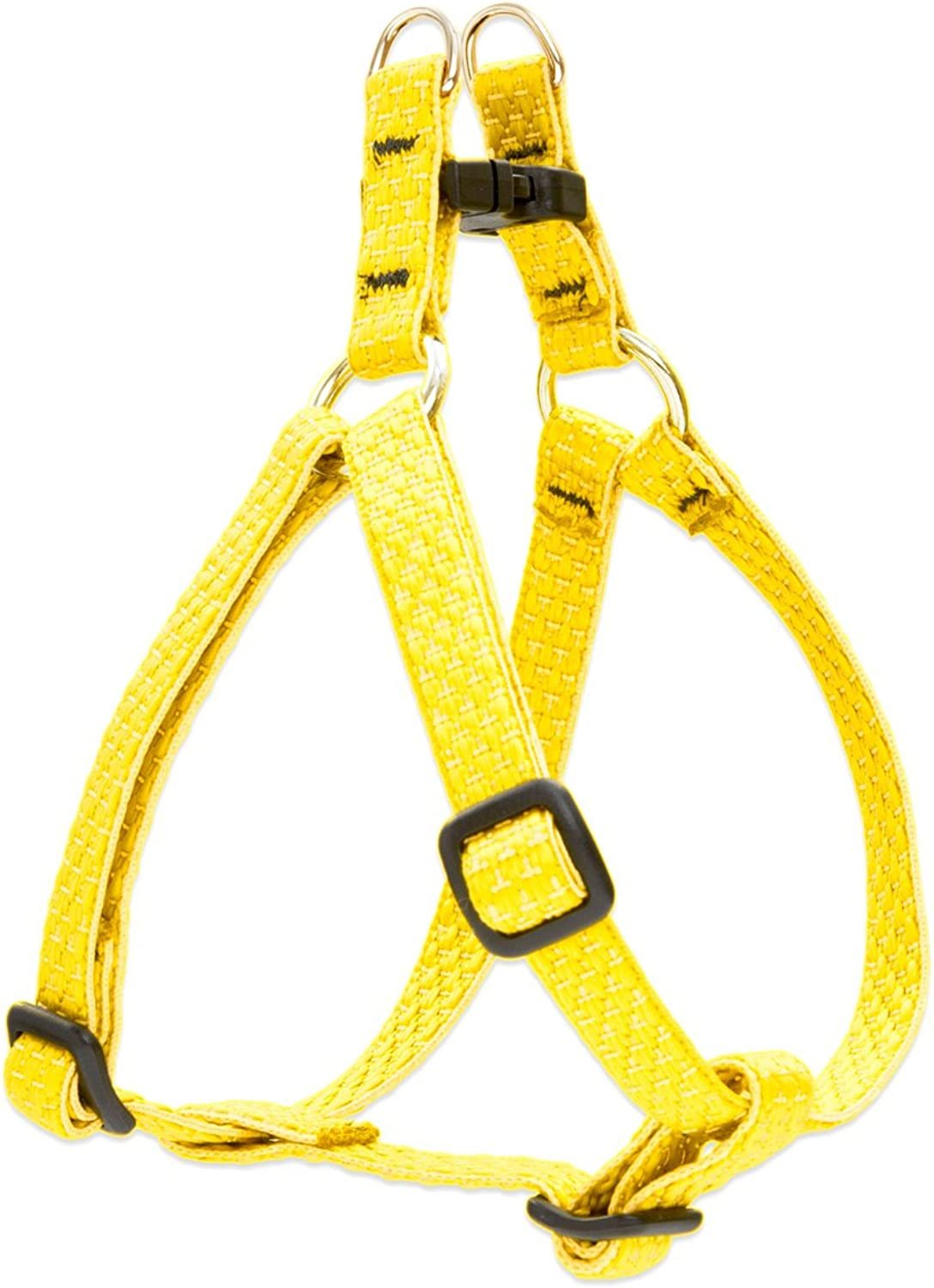 Lupine Eco 1 2Inch Recycled Fiber StepIn Harness for Small Dogs with Girth Size 10 to 13Inch, Sunshine