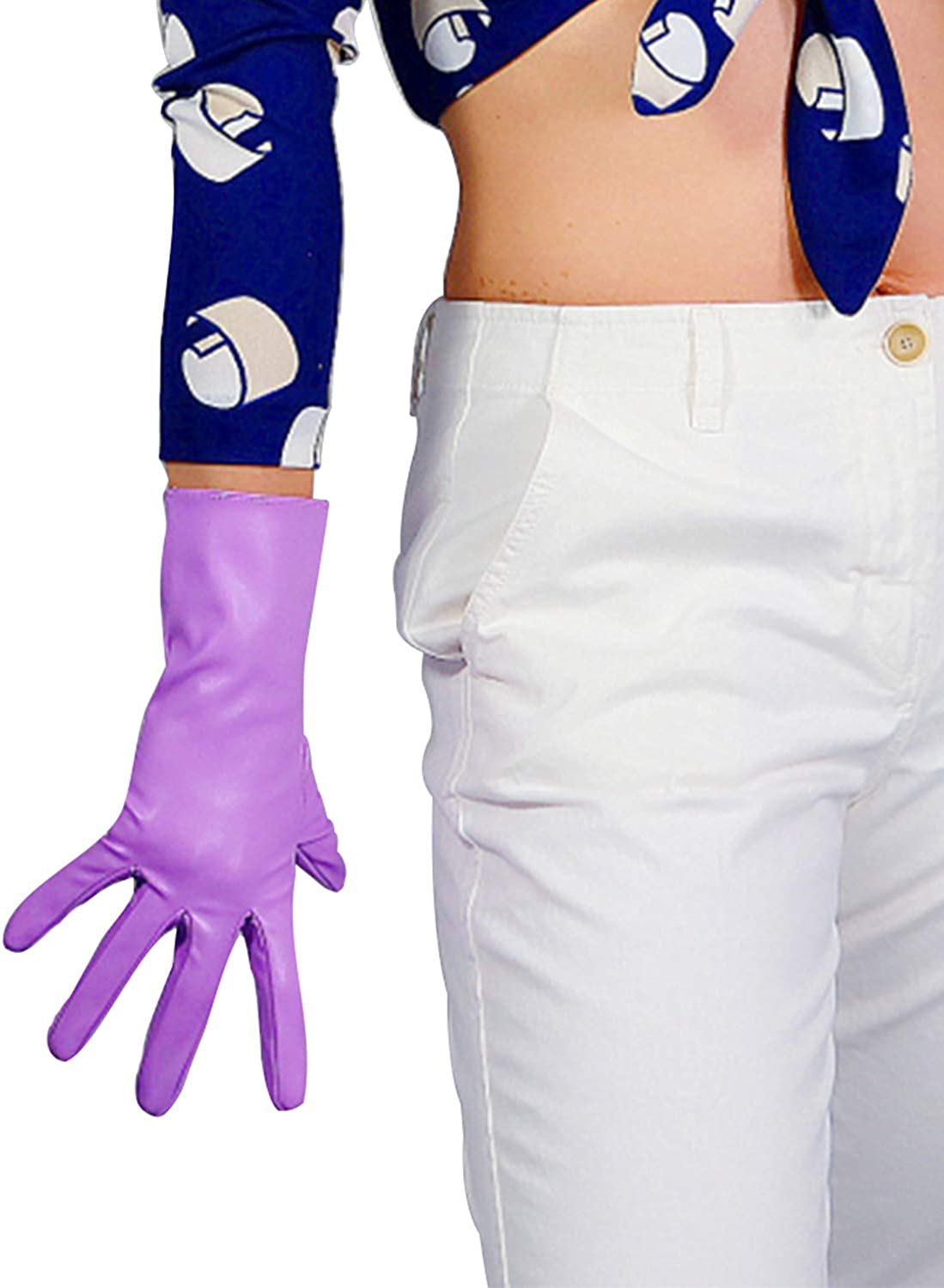DooWay Winter Warm Gloves for Women Driving Faux Leather Full Finger Gloves Lilac 28cm/11inches