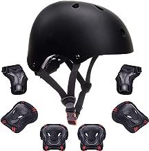 Kids Protective Gear Set Toddler Kids Bike Helmet Knee Elbow Pads Wrist Guards Pads for 3-8 Years Boys Girls Child Skateboard Rollerblading Cycling Scooter Hoverboard Sports Protective Gear Set 7Pcs