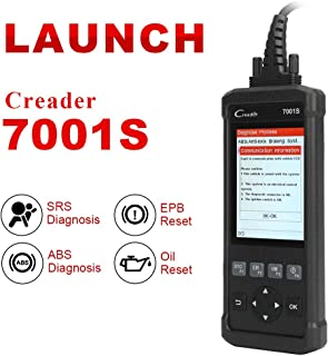 Launch OBD2 Scanner,Code Reader 7001S OBD II Scan Tool ABS SRS Diagnostic Scanner Tools with Oil Rest EPB Service,ABS Reset Service Functions.