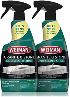 Weiman Disinfectant Granite Daily Clean & Shine 32 Ounce (2 Pack) Safely Clean Disinfect and Shine Granite Marble Soapston...