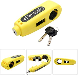 Motorcycle Brake Lock - Motorbike Motorcycle Handlebar Throttle Grip Lock Anti-theft Brake Level Lock for Bike Scooter Moped ATV(Yellow)-Yellow
