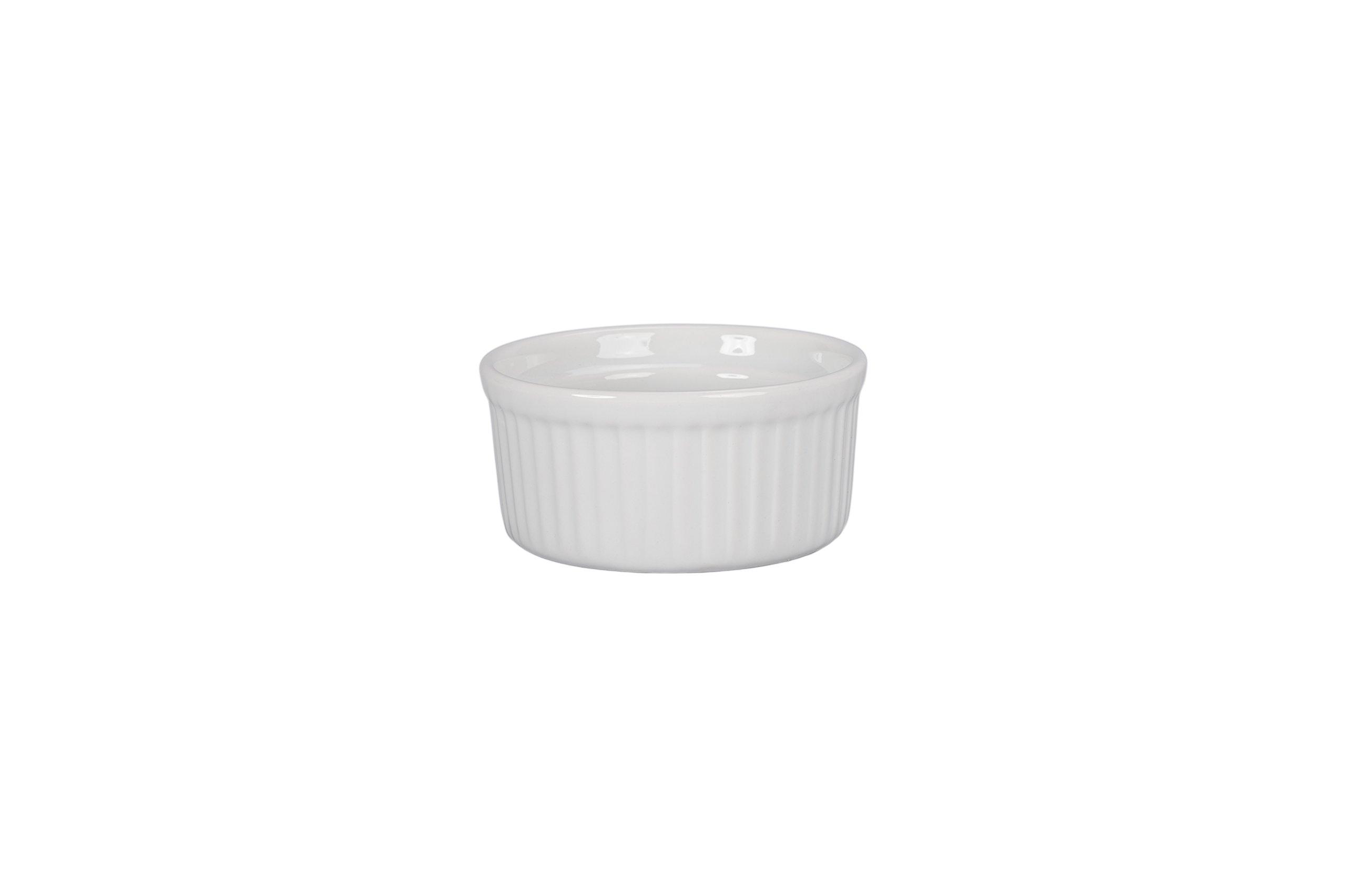 BIA Cordon Bleu Classic 4.5-Ounce Ramekin Dish, Set of 4, White