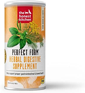 Honest Kitchen Perfect Form Supplement - Natural Human Grade Digestive Supplement for Dogs & Cats 5.5 oz