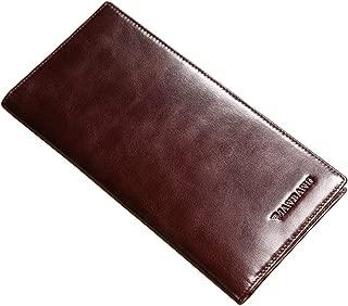 Genuine Italian Leather Handbag Organizer Card Case Long Bifold Wallet