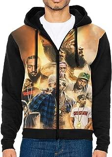 Nip-sey Hussle King Men's Long Sleeve Full-Zip Hoodie Cool Sweater Stylist Sweatshirt Tops with Kanga Pocket