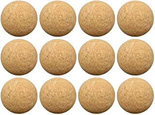Sports Foosball Table Soccer Replacement Balls, 12 Packs Cork Tabletop Games Balls, 36MM Wooden Desktop Soccer