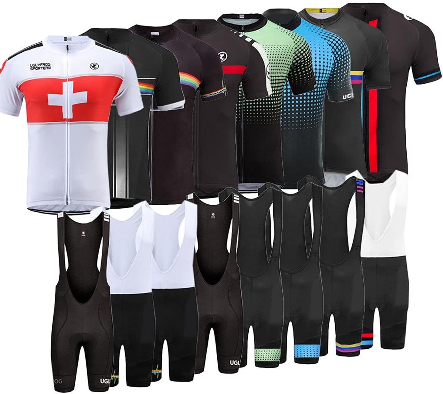 Uglyfrog 2018 Mens Short Sleeve Cycling Jersey Outdoor Sports Summer Style Bike Clothes Top CCJ01