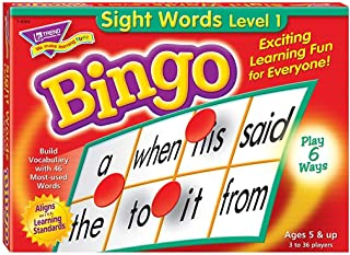 Sight Words Bingo - Language Building Skill Game for Home...