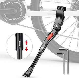 phixilin Pata de Cabra para Bicicleta, Aluminio Soporte Ajustable Bicicleta Kickstands Bicicleta Caballete Lateral Se Adapta a 20