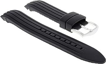 Rubber Band Strap 22Mm For Omega Seamaster Planet Ocean Bracelet Black Long