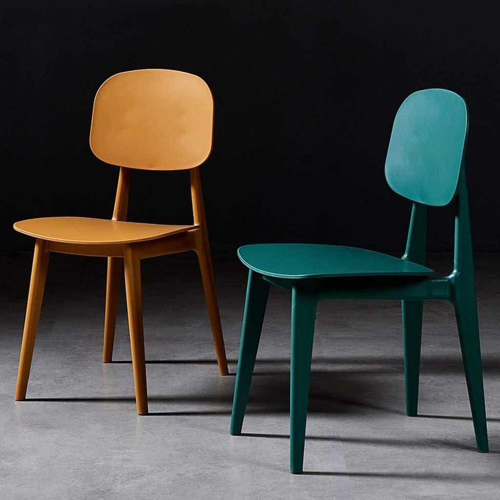 SLL- Chaise de Salle, Chaise de Bureau Simple, créative Dossier, Chaise Loisirs, Maison Adulte Chaise de Salle Moderne (Color : Pink) Green