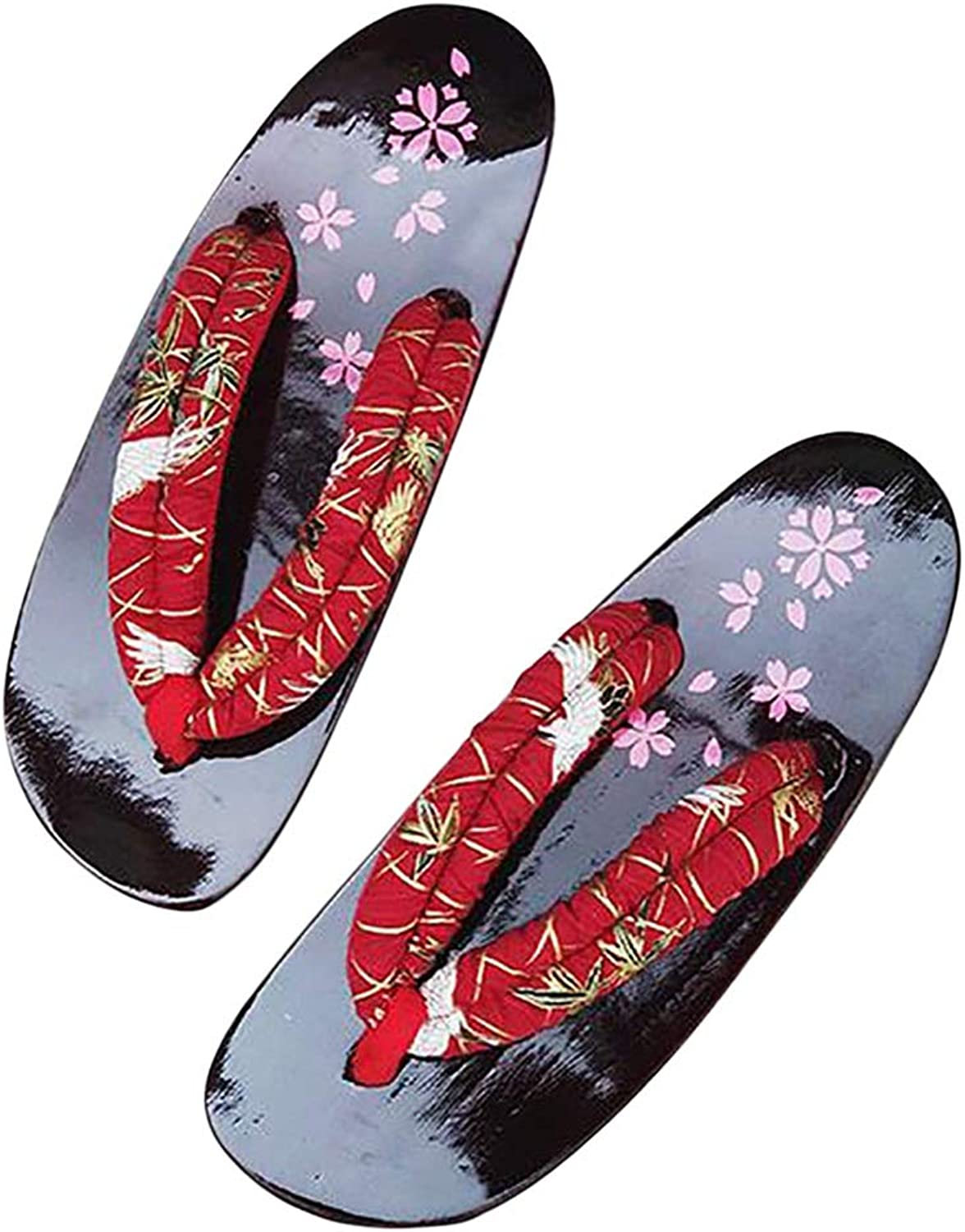 HUYP Fashion Female Summer Non-Slip Girl Sandals and Slippers Flower Flip-flops Thick Wooden Slippers (Size   35)