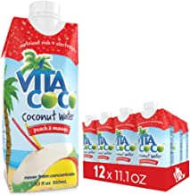 Vita Coco Coconut Water with Peach and Mango, 11.1-Ounce Containers, Pack of 12