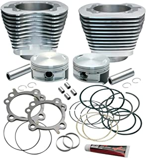 S&S Cycle 3 7/8in. Cylinder/Piston Kit for S&S 106in. Stroker - 10.5:1 Compression - Silver Powder-Coat 910-0199